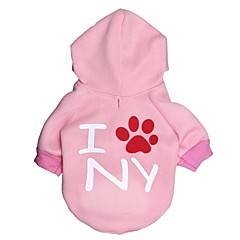 Gatos / Perros Saco y Capucha Rosado Ropa para Perro Invierno Letra y Número