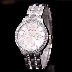 Women's  Fashion Diamond Steel  Watch   Circular High Quality Japanese Watch Movement(Assorted Colors)
