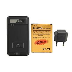 minismile ™는 특수 배터리 충전기 및 유럽 연합 (EU)과 교체 4200mah 배터리를 디코딩 플러그인 (G3) / BL-53yh / d855를 LG에 대한