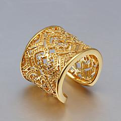 Obrączki Kryształ Srebro standardowe Złoty Cyrkon Frędzle Modny Gold Gold/Różowy Biżuteria Ślub Impreza Codzienny Casual 1szt