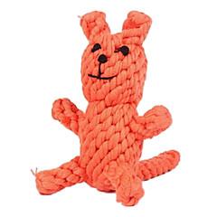개 장난감 씹는 장난감 Rope / 여우 직물 오렌지