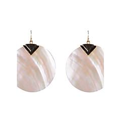 Round Shell Drop Earrings