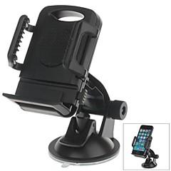 h01 180-Grad-Drehung Saugnapfhalter mit c66 4 ~ 5,4-Zoll-Rückseiten-Klipphalter für iphone4, 5, 5 s (schwarz)