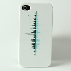 City Reflection Pattern Hard Case for iPhone 4/4S