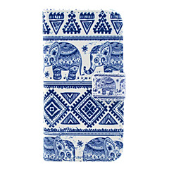Elephant Tribal Carpet Pattern PU Leather Case with Card Slot and Stand for Samsung Galaxy S4 mini I9190