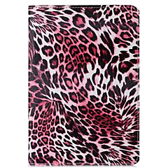 Leopard Grain Pattern PU Leather Case with Stand for iPad Air