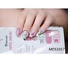 14pcs cartoon warme kleur nail art stickers mds1017