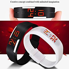 Women's Watch Unisex Digital Bracelet Sports Wrist Watch 30M Waterproof Dive LED Jelly Dress Clock Cool Watches Unique Watches