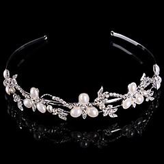 Bruiloft/Feest - Haarelastiekjes/Haarbanden/Haarkammen/Tiara'S (Kristal/Legering/Strass/Verzilverd , Zilver)