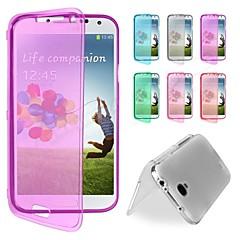 Samsung S4 I9500 - Tüm Gövdeyi Kapsayan Kılıf - Tek Renk - Samsung Cep Telefonu ( Siyah/Beyaz/Kırmızı/Yeşil/Mor/Gül/Koyu Mavi/Açık Mavi , TPU )