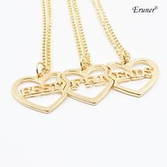 """moda eruner®hot """"melhores amigos"""" 3pcs colar de pingente de coração / set colar gargantilhas de ouro"""