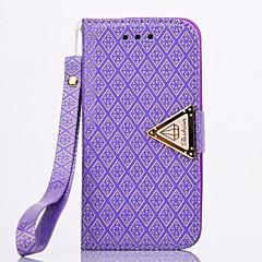 Design Especial - iPhone 5/iPhone 5S - Capa com Suporte/Cases Totais ( Vermelho/Preto/Rosa/Roxo/Dourado/Prateado , Pele PU/Metal )