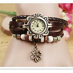 Women's Quartz Analog Bohemian Bracelet Watch Lucky Clover(Color Random)