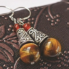 Special Natural Gemstone Agate Drop Earrings Assorted Colors 1 Pair
