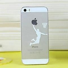 Desenho Animado/Esportes e Fitness - iPhone 5/iPhone 5S - Cobertura de Trás ( Preto/Branco , TPU )