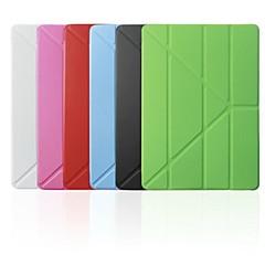 Couvertures intelligents/Origami Cases ( Cuir PU , Rouge/Noir/Blanc/Vert/Bleu/Incarnadin ) - Couleur unie pour Pomme iPad mini/mini-iPad 2/mini iPad 3