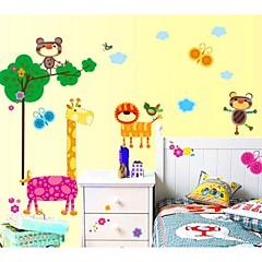 Lions Giraffes Mole Kindergarten Children RoomWall Sticker