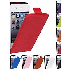 iPhone 4/4S/iPhone 4 - Sarung Penutup Penuh - Warna Padat/Yang Lain (Merah/Hitam/Putih/Hijau/Biru/Perang/Merah Jambu/Ungu/Ros/Jingga , Kulit PU)