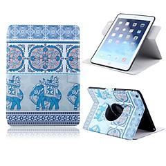 Blandet Farge/Nettet Mønster - 360⁰ Cases/Folio Cases/Origami Cases - Eple iPad 2/iPad 4/iPad 3 - ( PU / Lær
