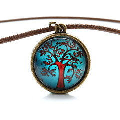 Vilam® Peace Tree Red Maple Tree Time Gem Cabochon Necklace