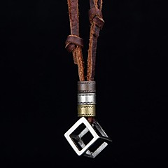 European And American Retro Casual Sports Hollow Cube Pendant Necklaces