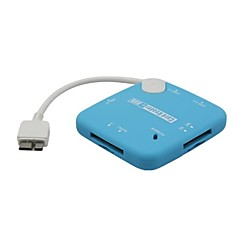 Micro USB Male to 3-Port USB 2.0 Port + SD / MS / TF Card Reader OTG Combo for Samsung S5/NOTE3/NOTE4