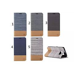 سامسونج Samsung Galaxy S6 edge - الهاتف المحمول سامسونج - أغطية كاملة/غطاء مع ستاند - تصميم خاص جلد PU )