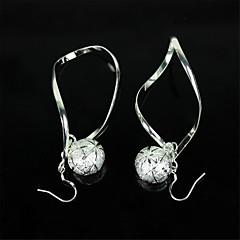 925 Silver Jewel Spiral Tennis Earrings(1 Pair)