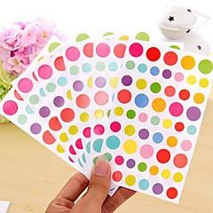 colorido engraçado grupo da etiqueta ponto (6 pcs)