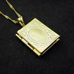 18K Real Gold Plated Allah Muslim Photo Box Pendant 1.2*2.5CM