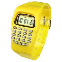 Gyerekek Divatos óra Karóra digitális karóra Kvarc Digitális Zenekar Édesség Sárga Sárga