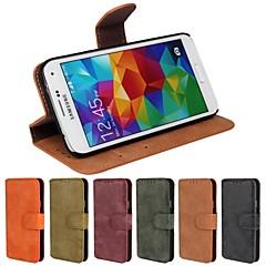 Teléfono Móvil Samsung - Carcasas de Cuerpo Completo/Fundas con Soporte - Diseño Especial - para Samsung S5 i9600 Cuero PU/Piel Genuina )