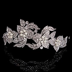 Vintage Design Wedding Bride Crystal Flowers Hair Accessior Handband