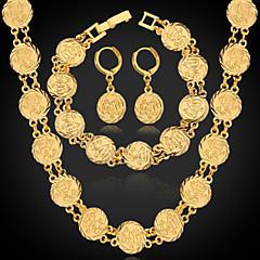 Dam Smycken Set kostym smycken Platina Pläterad Guldpläterad Legering Dekorativa Halsband Örhängen Armband Till Bröllop Party Dagligen