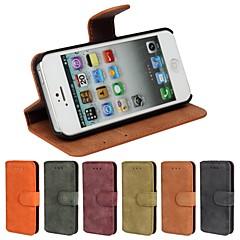Til iPhone 8 iPhone 8 Plus iPhone 5 etui Etuier Kortholder Med stativ Flip Syrematteret Heldækkende Etui Helfarve Hårdt Kunstlæder for