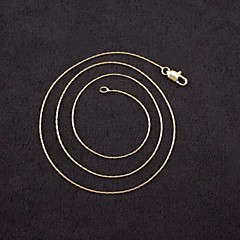 Halsband Kedje Halsband Smycken Bröllop / Party / Dagligen / Casual Mode Guldpläterad Gyllene 1st Present