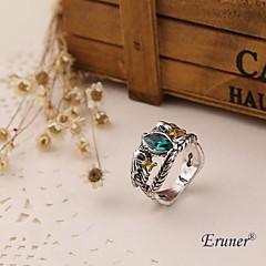 Eruner® Hobbit Aragorn ring vintage retro the hobbit antique silver green crystal for men and women wholesale