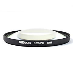 mengs® filtre x8 67mm close-up avec cadre en aluminium pour Canon Nikon Sony Fujifilm Olympus et Pentax