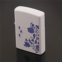 kérosène raffiné style de porcelaine bleue et blanche légère