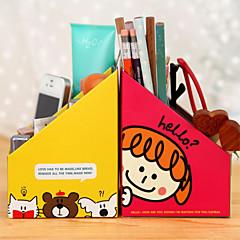 Korean Fashionable 4-Lattice Desktop Organizer Box