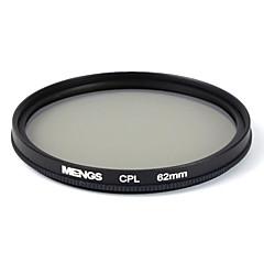 mengs® 62mm cpl circulaire protecteur de filtre polarisant avec cadre en aluminium pour appareil photo numérique et SLR / DSLR / dc /