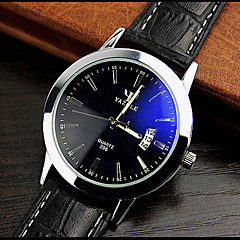 High-grade Leather Blue Ray Glass Business Quartz Watch