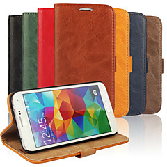 Bark Grain Genuine Leather Full Body Cover with Stand and Case for Samsung Galaxy S5 I9600 (Assorted Colors)