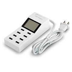 мини улыбка ™ 100-240 с нами Подключите USB адаптер питания с портами питания +8 USB и светодиодный дисплей для мобильной телефон и