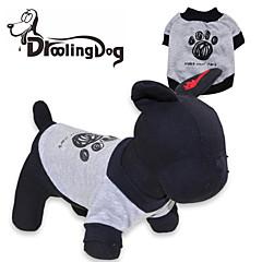 Cat / Dog Shirt / T-Shirt Gray Dog Clothes Spring/Fall Cartoon
