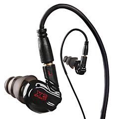 moxpad x3 sport hörlurar med mikrofon för att köra mp3-spelare, smält 4-ear headset mobiltelefon headset för samsung s6