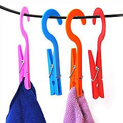 2pcs 클립 옷걸이 편리한 가정 세탁 옷 양말 후크 타월 클립