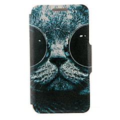Voor Samsung Galaxy Note Kaarthouder / met standaard / Flip hoesje Volledige behuizing hoesje Kat PU-leer SamsungNote 5 Edge / Note 5 /