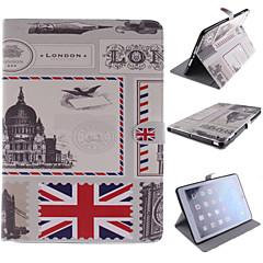 Vintage Postcard Design PU Full Body Case with Stand for iPad mini3 mini2 mini