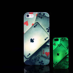 padrão de cartão de brilho no caso duro escuro para iphone 5 / iPhone 5 s